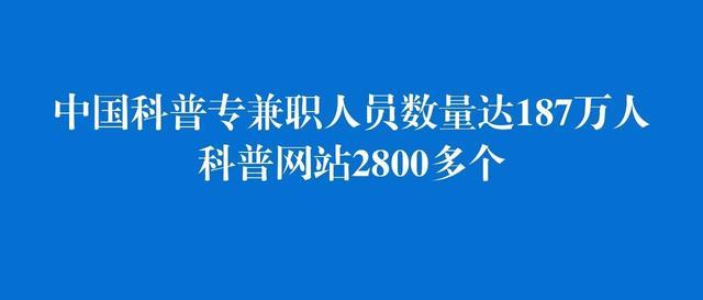 资讯|中国科普专兼职人员数量达187万人 科普网站2800多个